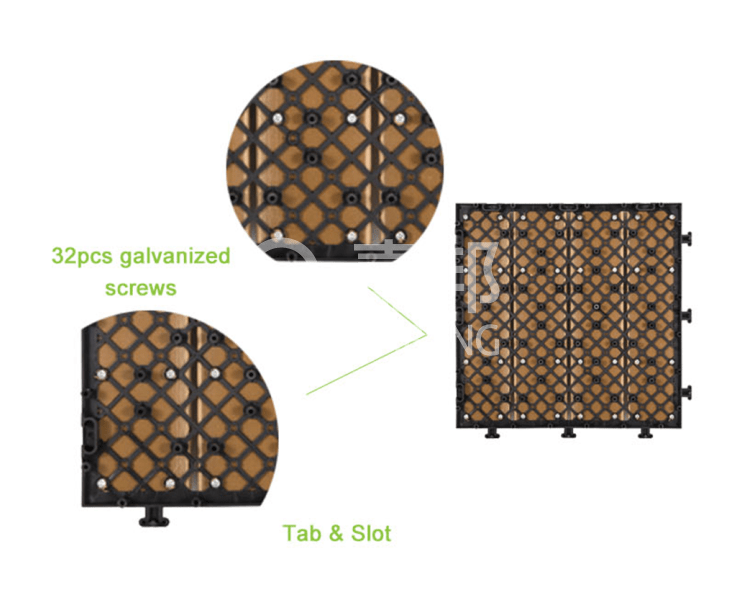 interlocking deck tiles ebay