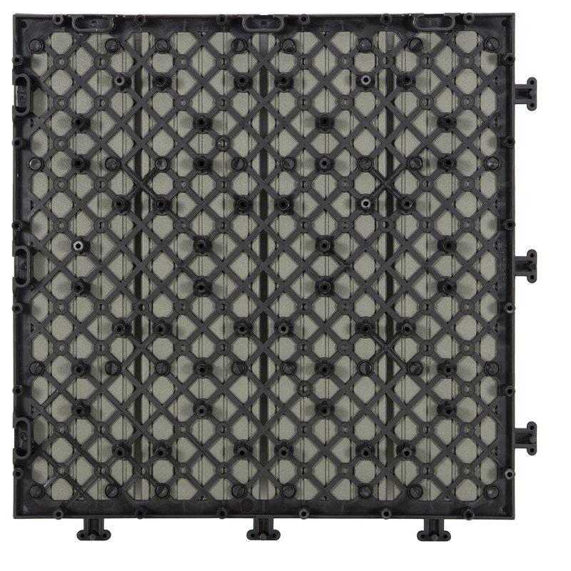 Outdoor metal aluminum deck tiles AL4P3030 grey