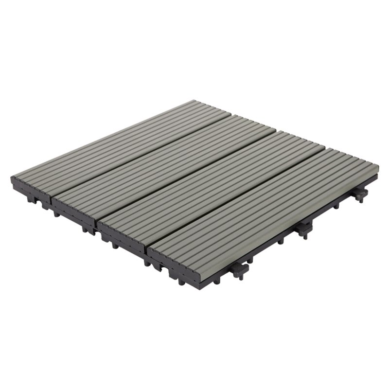 Outdoor metal aluminum deck tiles AL4P3030 grey