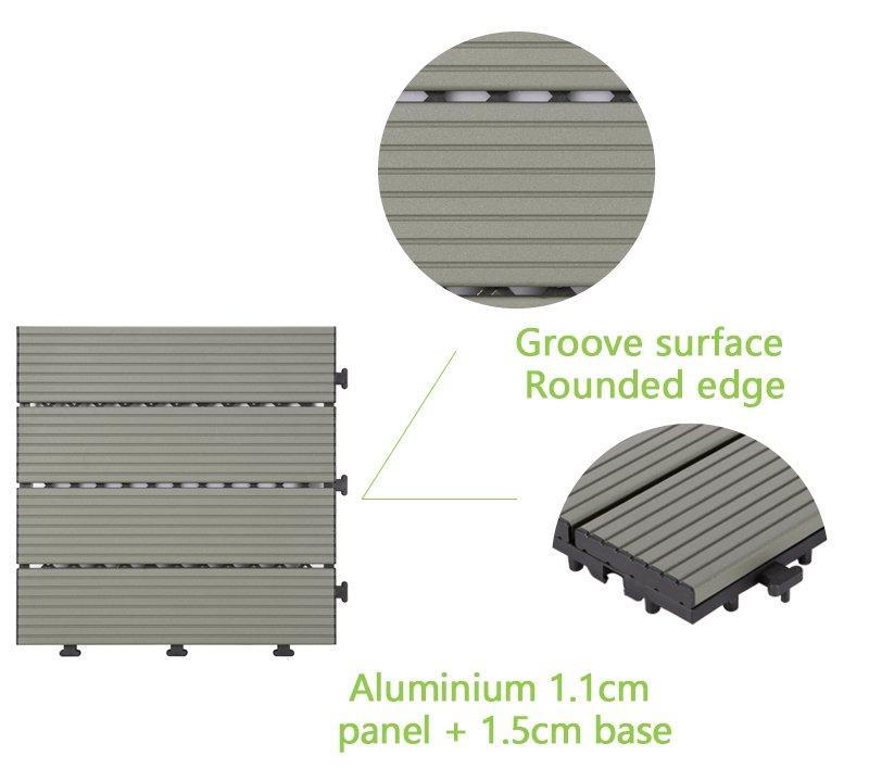 metal patio deck tile