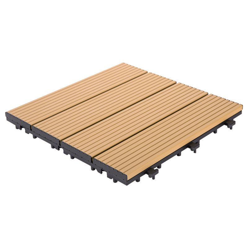 Outdoor metal aluminum deck tiles AL4P3030 brown