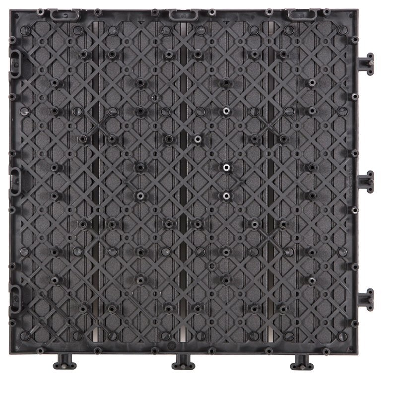 Outdoor metal aluminum deck tiles AL4P3030 black