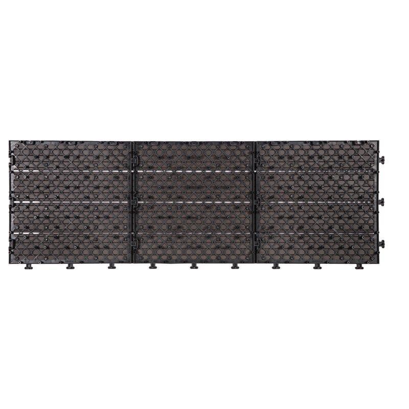 Outdoor metal aluminum deck tiles AL4P3090 dk brown