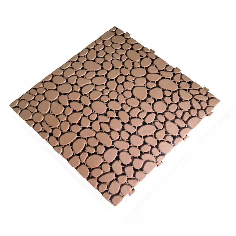 Non slip bathroom flooring plastic mat JBPL303PB sand