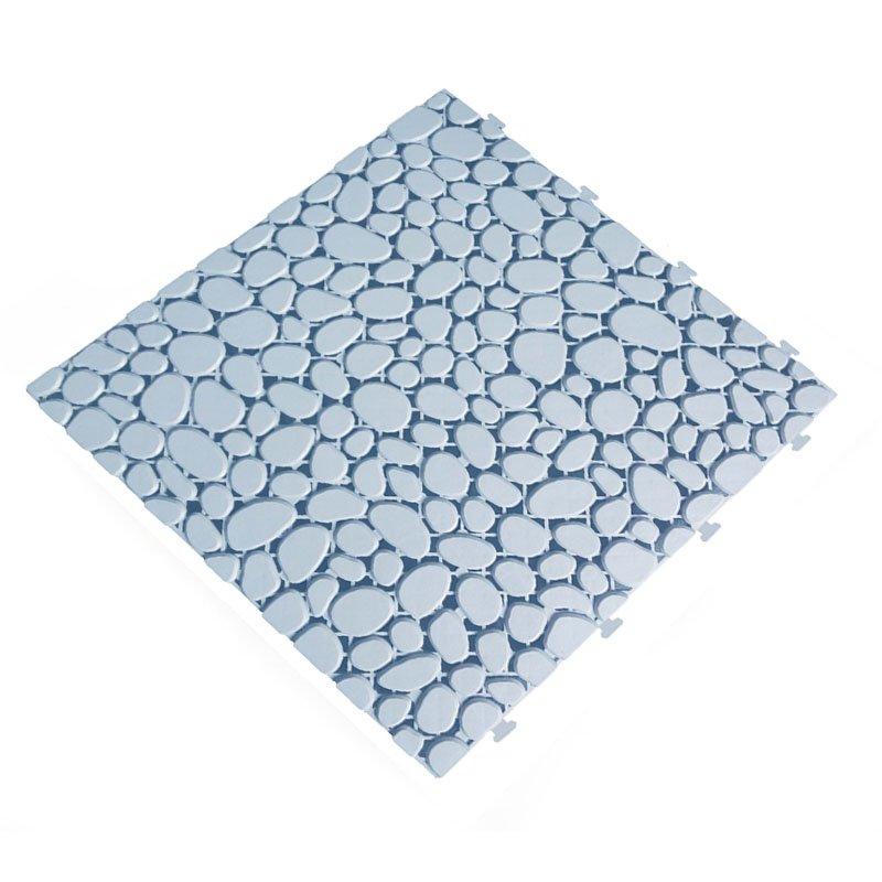 Non slip bathroom flooring plastic mat JBPL303PB off white