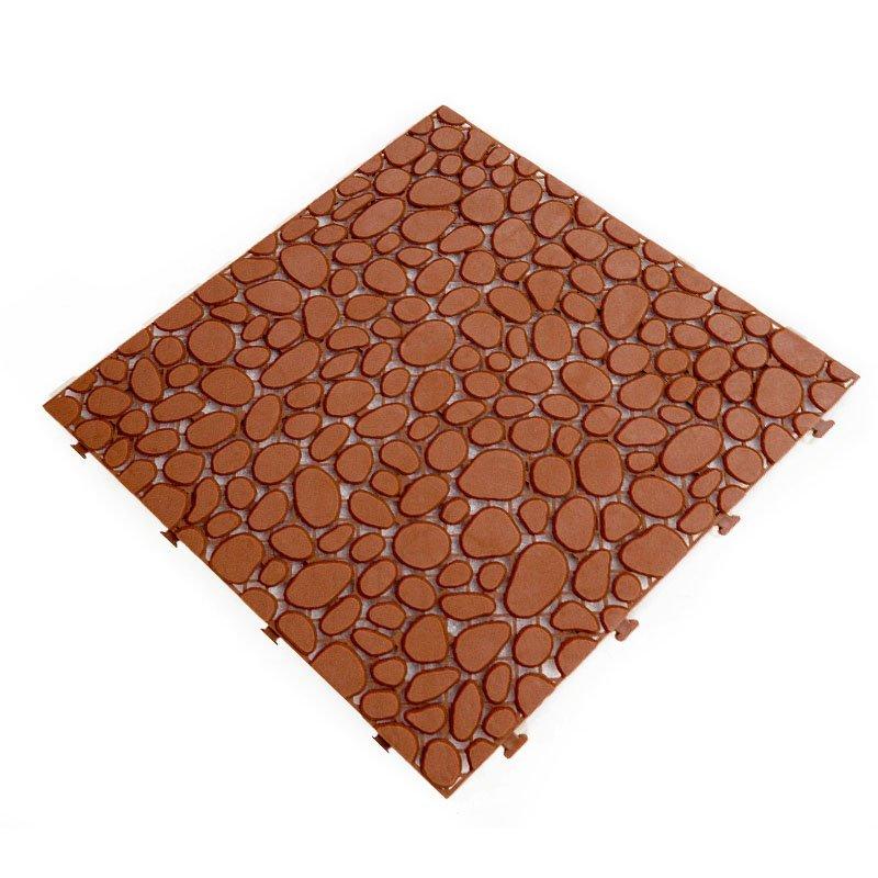 Non slip bathroom flooring plastic mat JBPL303PB coral