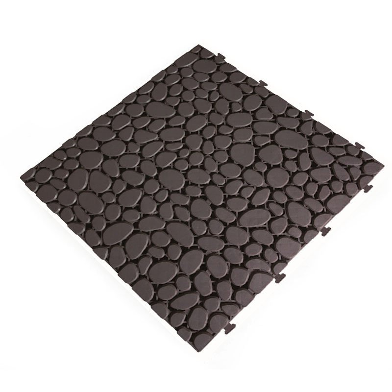 Anti slip kitchen plastic floor mat JBPL3030PB Black