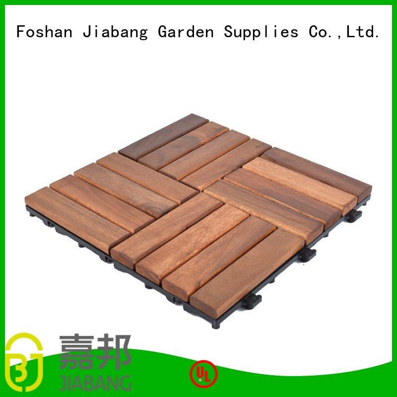 acacia tile flooring solid acacia deck flooring JIABANG Brand acacia deck tile