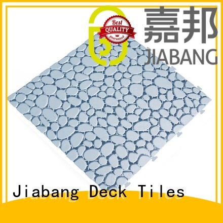 plastic floor tiles outdoor mat JIABANG Brand non slip bathroom tiles