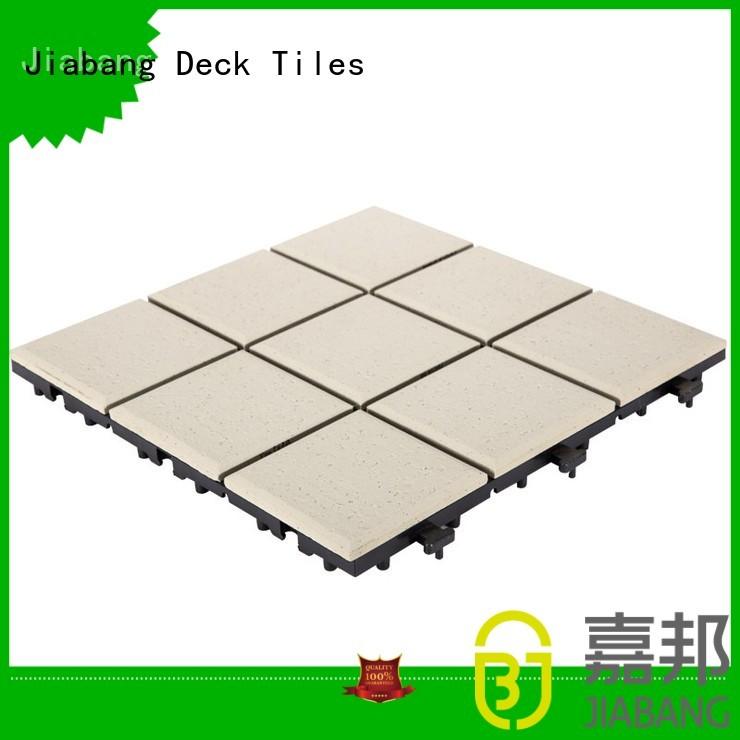 JIABANG Brand 08cm outdoor stbg ceramic interlocking tiles