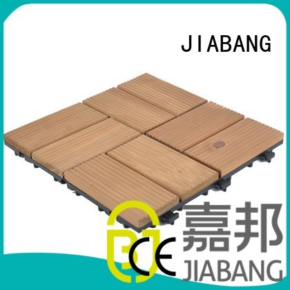 square wooden decking tiles long interlocking Warranty JIABANG