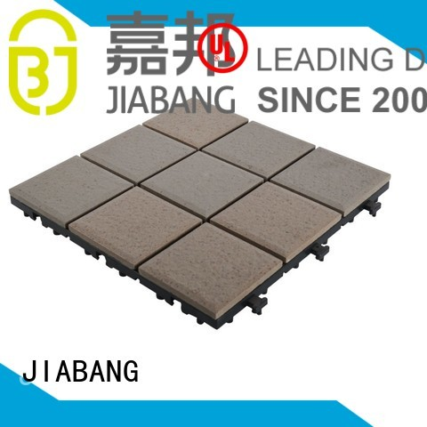 12x12 exhibition ceramic garden tiles decking JIABANG company