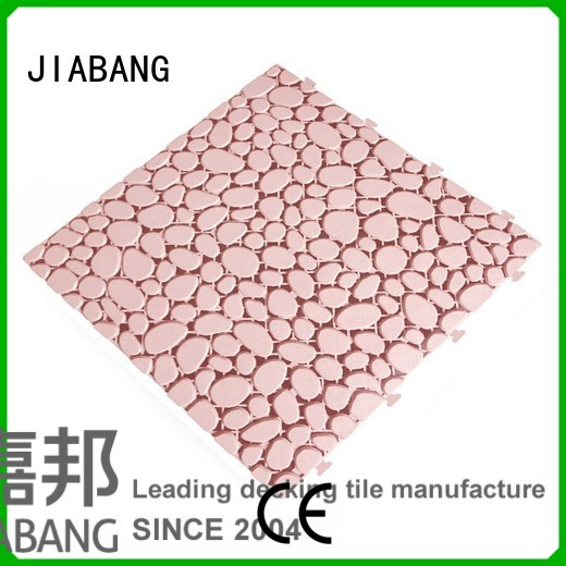 plastic floor tiles outdoor floor grey JIABANG Brand