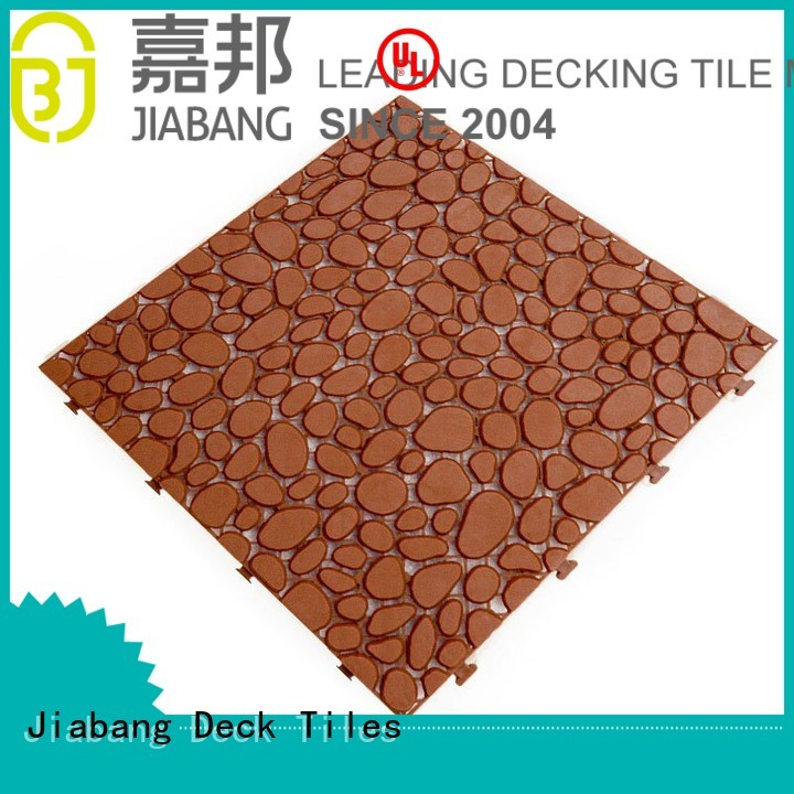 Quality JIABANG Brand plastic floor tiles outdoor mat white