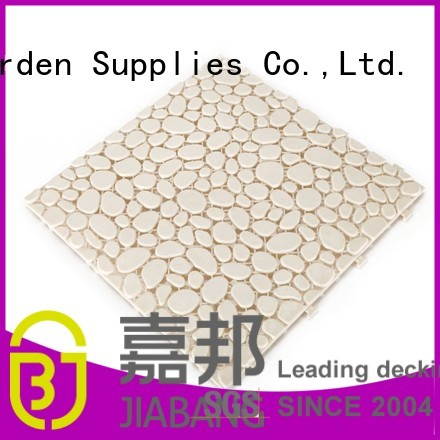 Hot coral plastic floor tiles outdoor off JIABANG Brand
