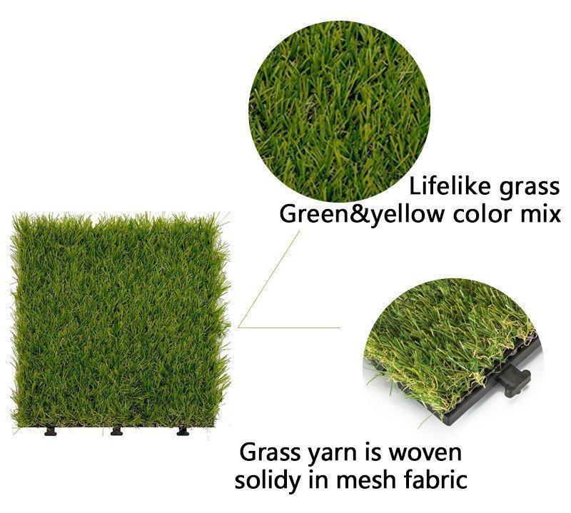 artificial grass decking tile