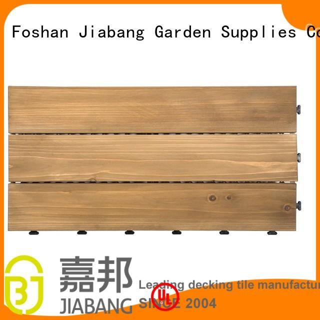 Custom fir deck interlocking wood deck tiles JIABANG adjustable