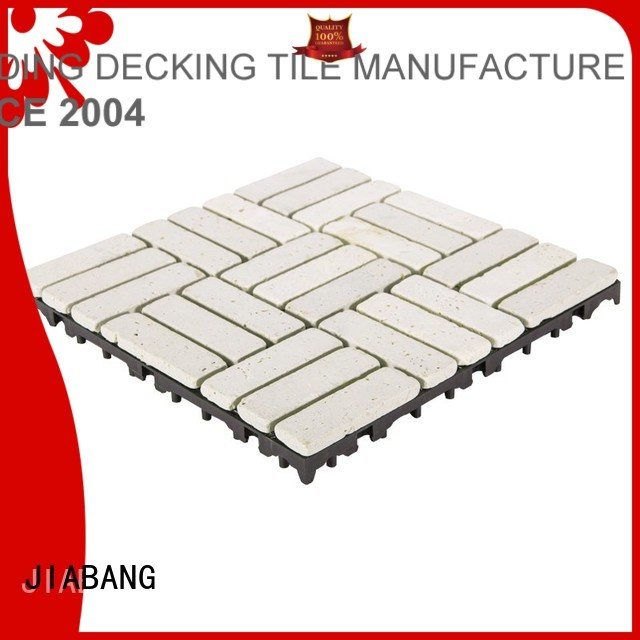 outdoor Custom design color travertine deck tiles JIABANG white
