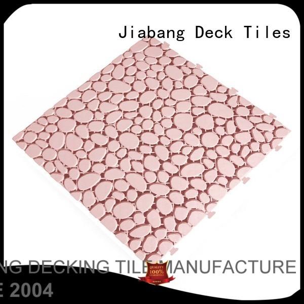 Quality JIABANG Brand plastic floor tiles outdoor cream bathroom