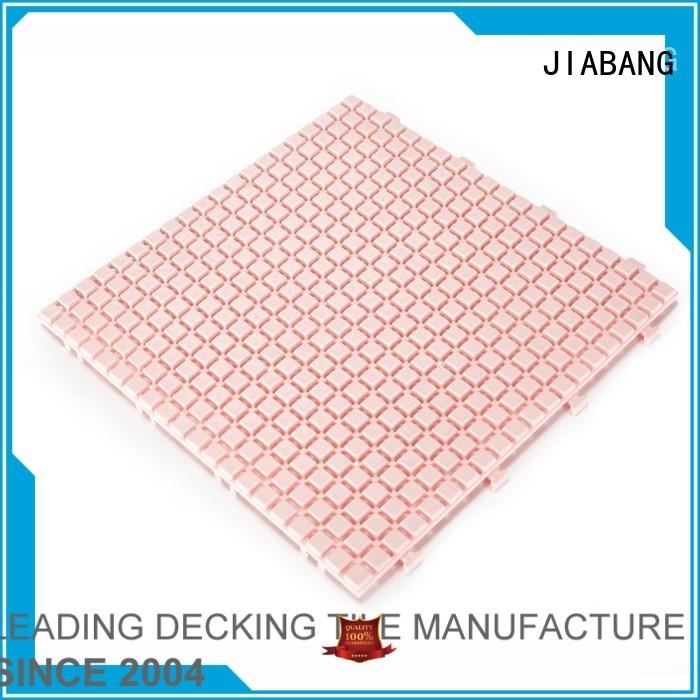 mat tiles JIABANG Brand plastic floor tiles outdoor