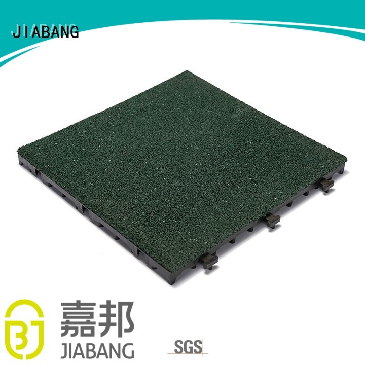 gym soft floor JIABANG Brand rubber mat tiles factory