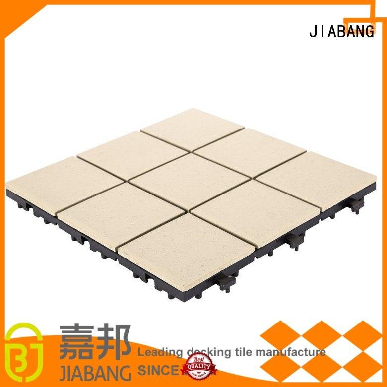 roof patio ceramic interlocking tiles JIABANG manufacture