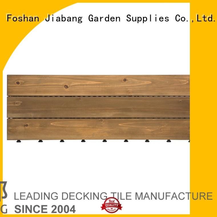 balcony floor refinishing decking JIABANG Brand interlocking wood deck tiles supplier