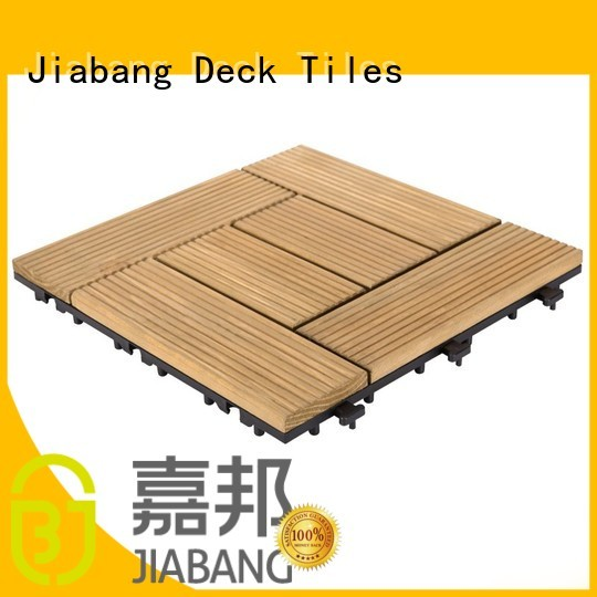 flooring wood wood deck patio JIABANG Brand interlocking wood deck tiles supplier