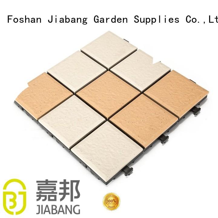 JIABANG Brand stbg patio custom ceramic interlocking tiles